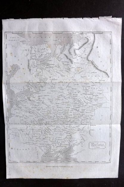 Encyclopaedia Perthensis 1816 Antique Map. Russia in Europe